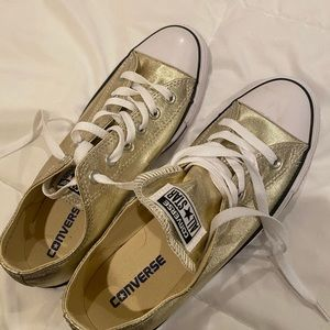 Gold Converse Sneakers- womens 9.5